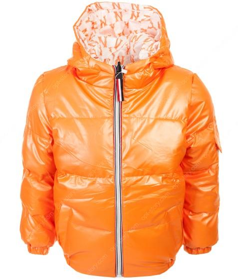 21813 Куртка девочка 2-х ОРАНЖ 110-140 по 5