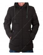022 чёрн. Куртка мужская M- 3XL по 5