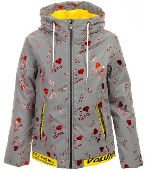 BM111-3# красный Куртка дев. 140-164 по 5