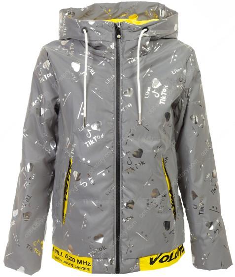 BM111-3# серый Куртка дев. 140-164 по 5