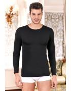 Реглан мужской черный размер XL по 3 шт. 1025