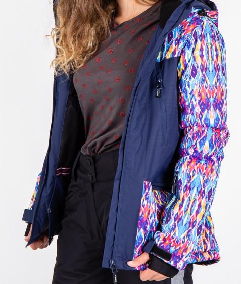 B2333 тем,синий Куртка женская S-XL по 4