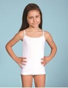 Майка девочка белая размер 1 по 3 шт арт 2505