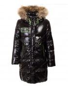 HL-810 черн. Куртка девочка  140-164 по 5 шт