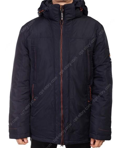 9325#118 синий Куртка мужская Winter 48-58 по 6