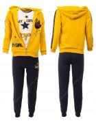 46088 желтый Спортивный костюм девочка 4-12 по 5