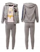 46088 серый Спортивный костюм девочка 4-12 по 5