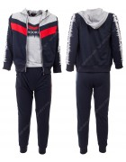 52411 серый Спортивный костюм мальчик 4-12 по 5
