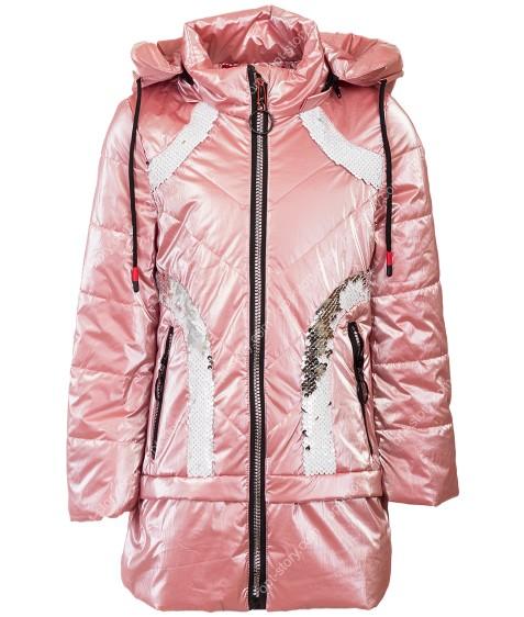 1901# роз Куртка девочка110-134 по 5