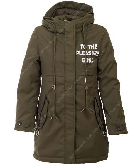 HL-022 зел Куртка девочка 134-158 по 5