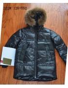 322 чёрный Куртка мальчик 128-152