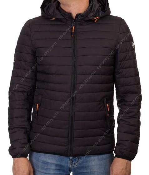 1291-1 черн. Куртка мужская M-3XL по 5