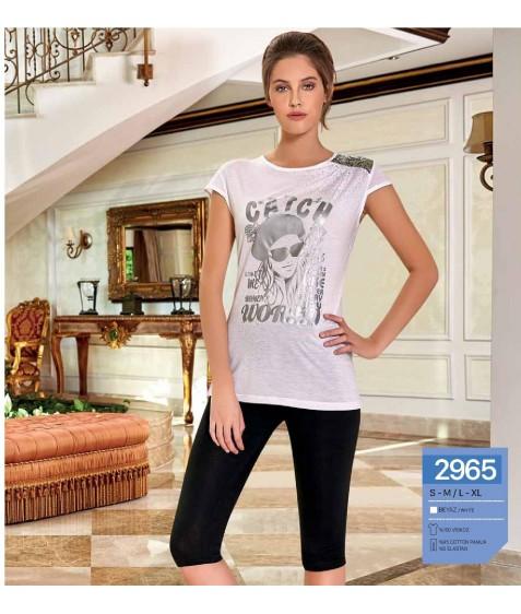 Комплект домашний женский S/M-L/XL по 2 шт. арт. 2965