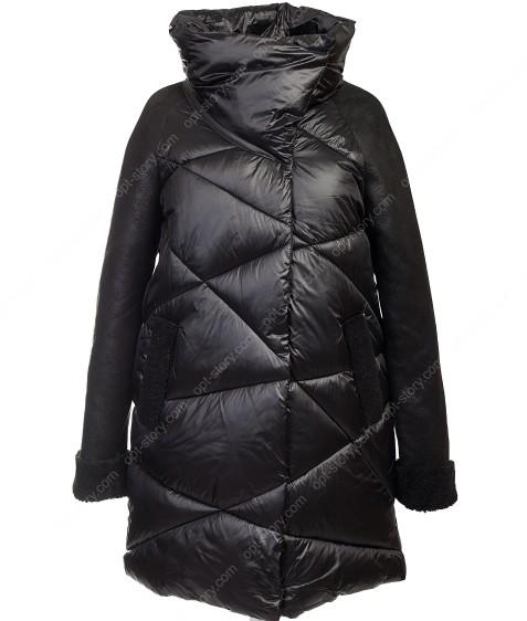 6032 черн. Куртка женская(еврозима) 36-42 по 4