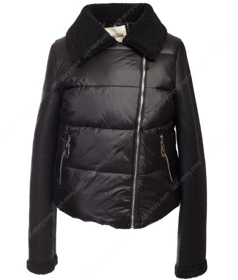 6122 черн. Куртка женская(еврозима) 36-40 по 3