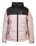 813 пудра. Куртка женская эко-кожа(еврозима) M-2XL по 4