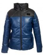 813 син. Куртка женская эко-кожа(еврозима) M-2XL по 4