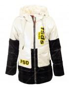 2129 белая Куртка девочка 116-140 по 5