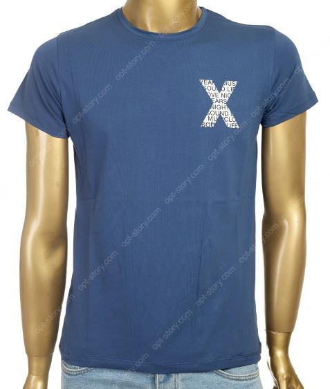 7683 синий Футболка мужская M - 2XL по 4шт