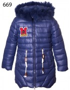 669 синий Куртка девочка 128-152 по 5шт