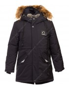 320# чёрн Куртка мальчик 122-146 по 5