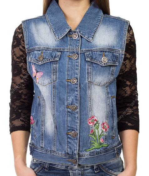 B-978# Жилетка женская джинс S-3XL по 6