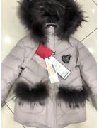 860 беж. Куртка девочка 104-128 по 5