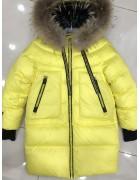 8991 желт. Куртка девочка 128-152 по 5
