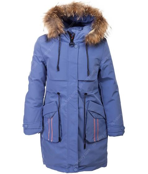 1938 голуб. Куртка девочка 140-164 по 5