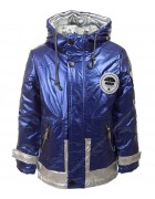 B-802 синий Куртка мальчик 104-128 по5