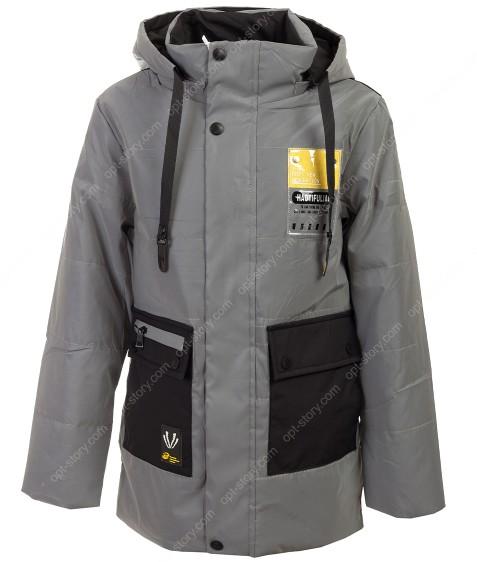 GL-04 черный Куртка мальчик 140-164 по5 рефлект