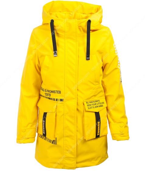 HL-605 желтый Куртка девочка 134-158 по 5