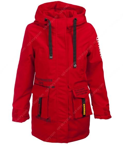 HL-605 красный Куртка девочка 134-158 по 5