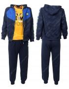CH5776 черный Спорт. костюм мальчик 116-146 по 6