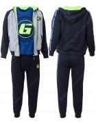 CH5795 черный Спорт. костюм мальчик 134-164 по 6