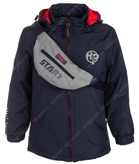HB8276 т.син-красный Куртка мал. +сумка слинг 8-16 по 5