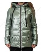 8001 зел Куртка женская S-2XL по 5