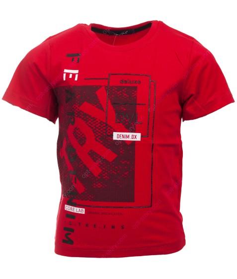 5187 красный DEV Футболка мальчик 116-134 по 4