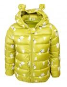 3433 зеленый Куртка девочка ЗАЙКА 80-100 по 3