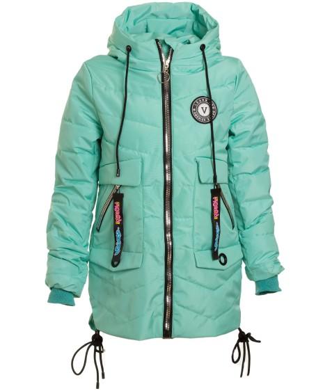 HL-0806 бирюза Куртка девочка 134-158 по 5 (140,146,158)