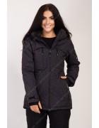 2355 черн. Куртка женская S-XL по 4