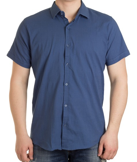 51311V-5 т.син(кор. рукав) Рубашка мужская 2XL-5XL по 4