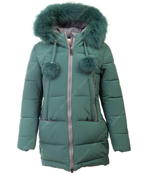 HL-602 зел. Куртка девочка  140-164 по 5