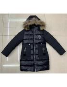 LH-23 чёрн. Куртка девочка 122-146 по 5