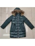 LH-27 зел. Куртка девочка 140-164 по 5