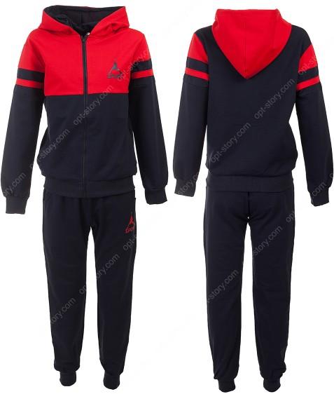 613 красный Спорт костюм маль. 6-16 по 6