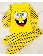 00167 желтый Пижама мальчик 1-3 по 3