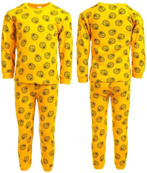 215 желт. Пижама мальчик 4-6 по 3