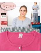 6187 розовый Пижама женская батал XL-4XL по 4