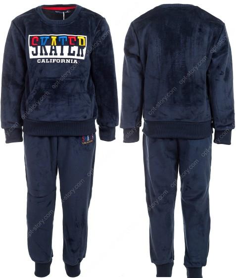 JF-1798 т.синий Спорт. костюм мальчик ВЕЛЮР 3-8 по 5
